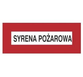 Znak syrena pożarowa (231-10)