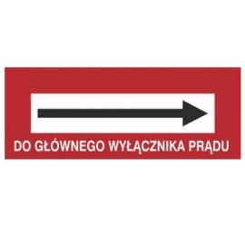 Znak do głównego wyłącznika prądu (w prawo) (231-18)