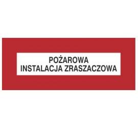 Znak pożarowa instalacja zraszaczowa (231-24)