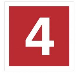 Znak cyfra 4 (808-12)