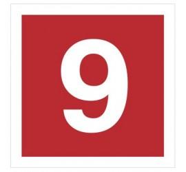 Znak cyfra 9 (808-17)