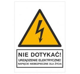 Znak nie dotykać! Urządzenie elektryczne! (330-01)