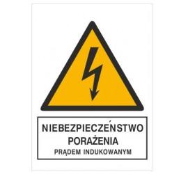 Znak niebezpieczeństwo porażenia prądem indukowanym (330-11)