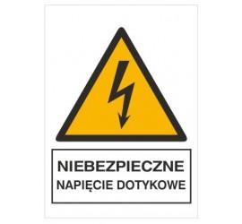 Znak niebezpieczne napięcie...