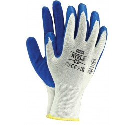 Rękawice ochronne Reis RTELA biało-niebieskie