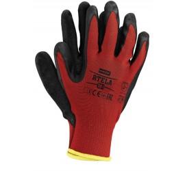 Rękawice ochronne Reis RTELA czerwono-czarne