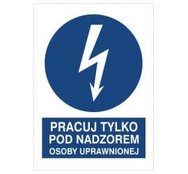 Znak pracuj tylko pod nadzorem osoby uprawnionej (430-10)