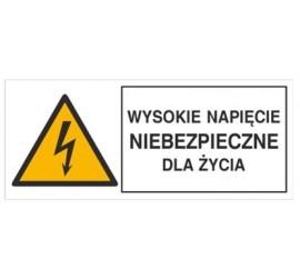 Znak wysokie napięcie niebezpieczne dla życia (330-02)