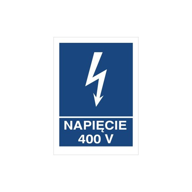Znak napięcie 400V (530-13)