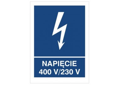 Znak napięcie 400V- 230V (530-22)
