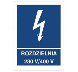 Znak rozdzielnia 230V- 400V (530-25)