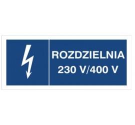 Znak rozdzielnia 230V- 400V...
