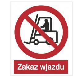 Znak zakaz wjazdu (604-02)