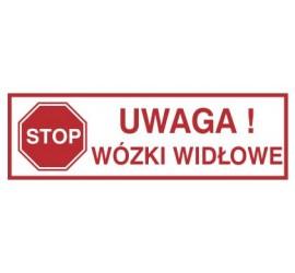 Znak uwaga! Wózki widłowe (604-03)