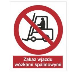 Znak zakaz wjazdu wózkami spalinowymi (604-04)
