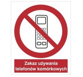 Znak zakaz używania telefonów komórkowych (610)