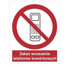 Znak zakaz wnoszenia telefonów komórkowych (610-02)