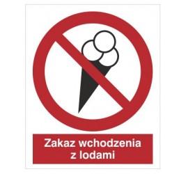Znak zakaz wchodzenia z lodami (614)