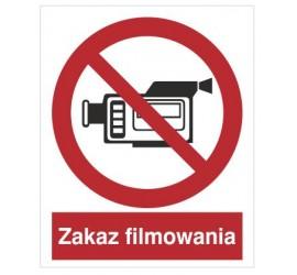 Znak zakaz filmowania (615)