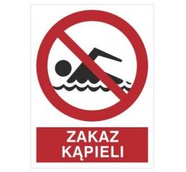 Znak zakaz kąpieli (655)