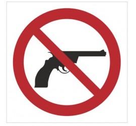 Znak zakaz wnoszenia broni (629)