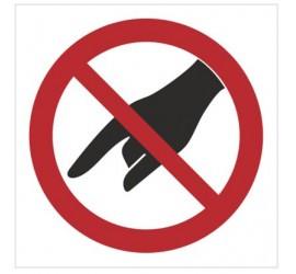Znak zakaz wkładania ręki (635)