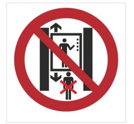 Znak zakaz przebywania pod windą (bez opisu) (652)