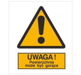 Znak ostrzeżenie przed gorącą powierzchnią (301-01)