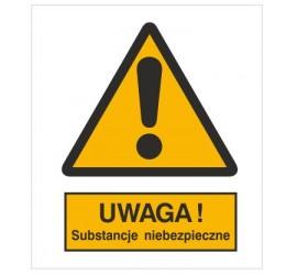 Znak ostrzeżenie przed substancjami niebezpiecznymi (301-10)