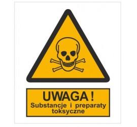 Znak ostrzeżenie przed substancjami i preparatami toksycznymi (302-03)