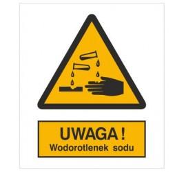 Znak ostrzeżenie przed wodorotlenkiem sodu (303-02)