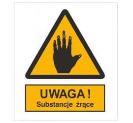 Znak ostrzeżenie przed substancjami żrącymi (303-04)