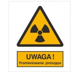 Znak ostrzeżenie przed promieniowaniem jonizującym (304-02)