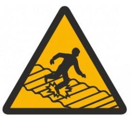 Znak ostrzeżenie przed kruchym dachem (310)