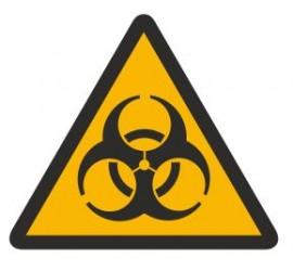 Znak ostrzeżenie przed skażeniem biologicznym (316)