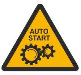 Znak ostrzeżenie przed uruchamianiem automatycznym (323-01)