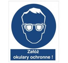 Znak nakaz stosowania ochrony oczu (402)