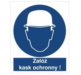 Znak nakaz stosowania ochrony głowy (403)