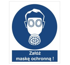 Znak nakaz stosowania ochrony dróg oddechowych (405)