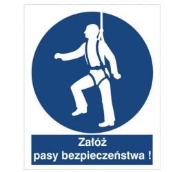 Znak nakaz używania pasów bezpieczeństwa (410)
