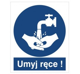Znak nakaz umycia rąk (411)