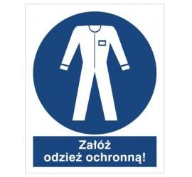 Znak nakaz stosowania odzież ochronnej (416)