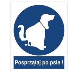 Znak nakaz sprzątania po psie (426)