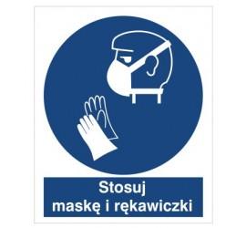 Znak stosuj maskę i rękawiczki (429)