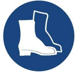 Znak nakaz stosowania ochrony stóp (406)