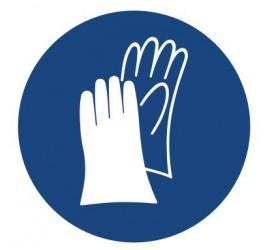 Znak nakaz stosowania ochrony rąk (407)