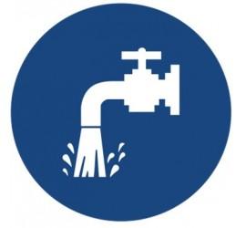 Znak oszczędzaj wodę (411-01)