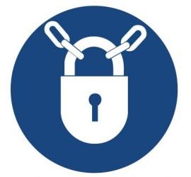 Znak nakaz stosowania zamknięcia (415)