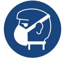 Znak nakaz stosowania ochrony dróg oddechowych (423)