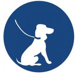 Znak nakaz wyprowadzania psa na smyczy (424)
